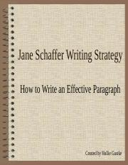Jane Schaffer Paragraph Writing - Three Pigs