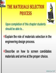 Materials Selection Process