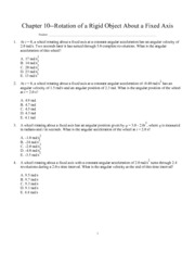 Chapter 10--Rotation of a R
