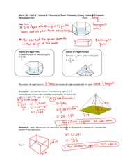 Pyramid and Cone Notes