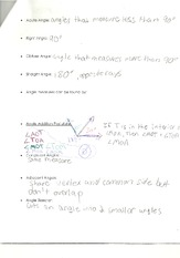 Geometry- Angles notes