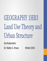 Lecture 13_Land Use Theory and Urban Structure.pptx