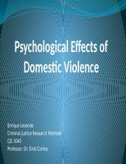Psychological effects of dv pp