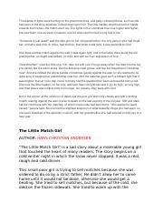 The Little Match Girl Notes.docx