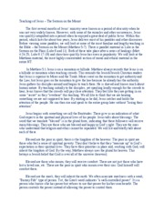 Notes 8 - Teachings of Jesus - Sermon on the Mount - A6