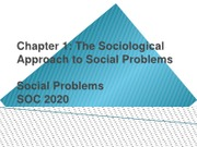 Overview of Course and Sociological Approach to Social. Lesson 1