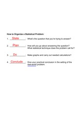 steps to a stats problem notes