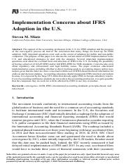Implementation concerns about IFRS adoption in the U.S..pdf