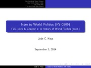 PS0500_LectureSlides2 A HIstory of World Politics Continued