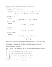 MECH 111 Extrema of Functions of Two Variables Notes
