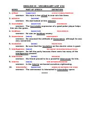 ENGLISH III VOCABULARY LIST #34 (1)