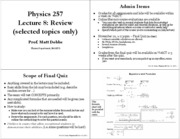 Lec8 Review & Cosmology