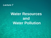 ES S1 1516 - L7 -  Water & pollution