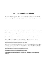 Lab 3.2- The OSI Reference Model