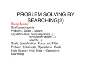 4 Problem Solving by Searching