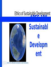 Lecture 4 - Ethics of Sustainable Development