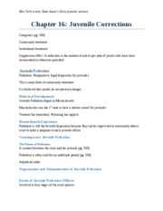 Chapter 16_Juvenile Corrections