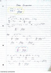 Further Differentiation Class Notes 1