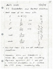 Translation and Partial Fractions Review