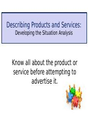 Class Notes F Describing Products and Services Situation Analysis(1).ppt