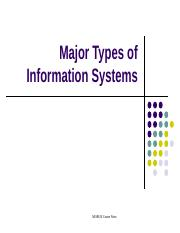 1.0 Intro to Info Systems (III)