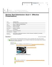 Quiz 4 - Effective Presentations &...