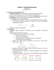 Chapter 7 Substitution Reactions