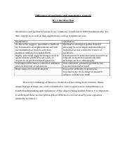 DIFFERENCES OF QUALITATIVE AND QUANTITATIVE RESEARCH.docx