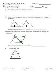 Geo Unit 4a Prac Test - no vocab (2).doc - Geometry ...