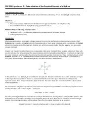 CHE 201 Expt 2 - Determination of the Empirical Formula of a Hydrate (1).pdf