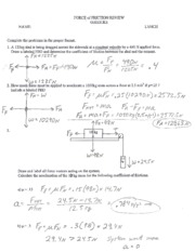 Friction_Review_Answers