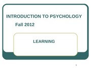 Gen Psych Chapter 6 Fall 2012 for BB