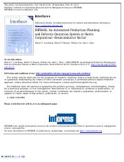 IMPReSS_ An Automated Production-Planning and Delivery-Quotation System at Harris Corporation—Semico