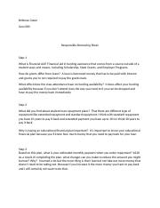 responsible borrowing worksheet 4 essay The basicsof saving and investing: investor education 2020 the basics is a product of the.