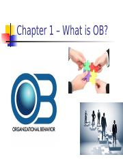 2 Ch 1-2 What is OB, Job Performance