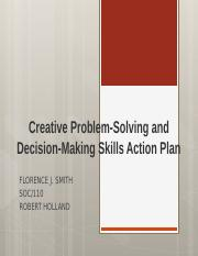 Creative Problem-Solving and Decision-Making Skills Action Plan.pptx
