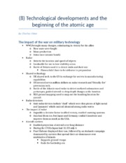 (8) Technological developments and the beginning of the atomic age