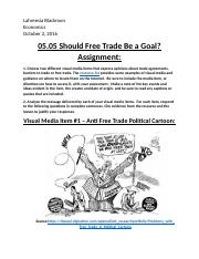 5.05 Should Free Trade be a Goal- Lahreesia Blackmon