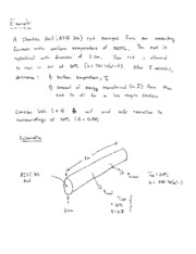 Example Problem_1-D Unsteady Cooling of Cylindrical Bar