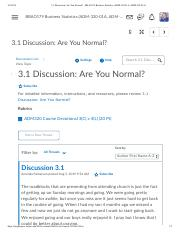 3.1 Discussion_ Are You Normal_ - BBAO179 Business Statistics (ADM-320-01A, ADM-320-01A).pdf