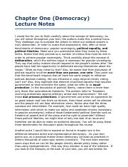 Chapter One (Democracy) Lecture Notes.pdf