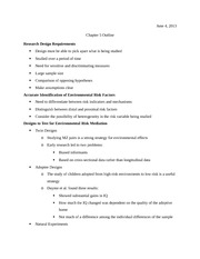 Research Design - Notes