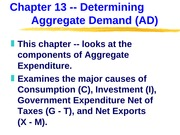 ECN 203 (13), Determining Aggregate Demand