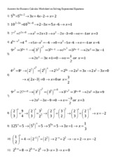 Answers for Solving Exponential Equations for 3.1