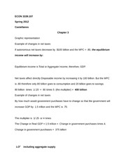 ECON 3339.107 Chapter 3 Notes