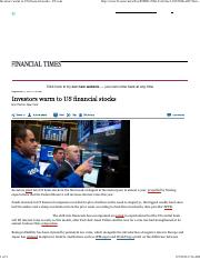 Investors warm to US financial stocks