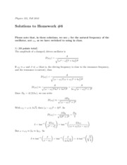 Physics 325 HW 6 Solutions