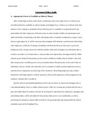 wgu application of ethical leadership task application of  15 pages task 2