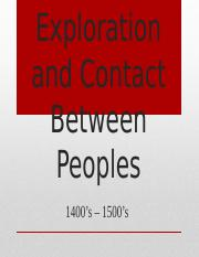 Global Exploration and Contact  1400s to the 1500s.pptx