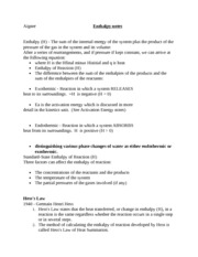 Enthalpy notes